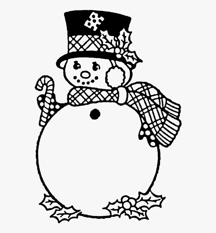 Transparent Snowman Face Png - Scarf Winter Hat Colouring, Transparent Clipart