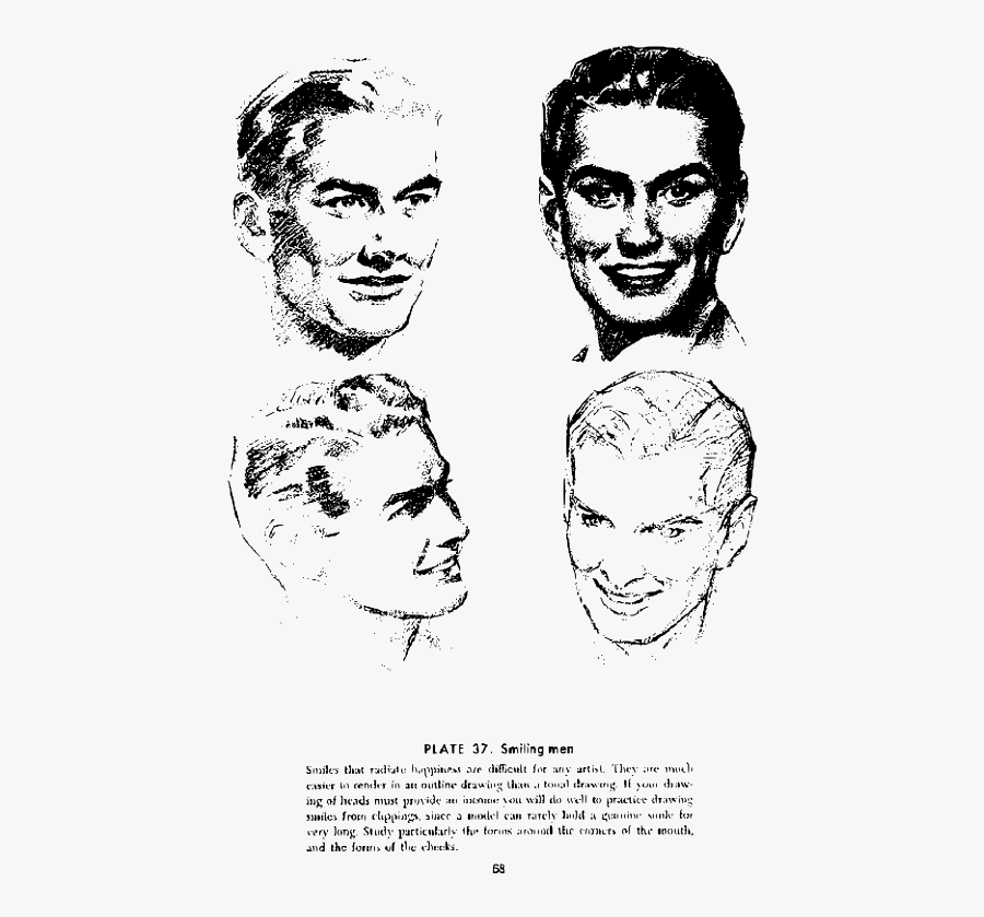 Andrew Loomis Drawing The Head And Hands 63 - Draw Smile Andrew Loomis, Transparent Clipart