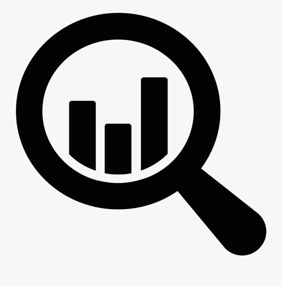 Black And White Icon Data Analysis Clipart , Png Download