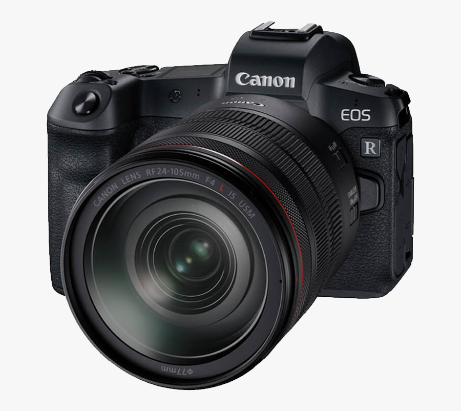 Mirrorless Interchangeable Lens Camera - Canon Eos R Mirrorless Digital Camera With 24 105mm, Transparent Clipart