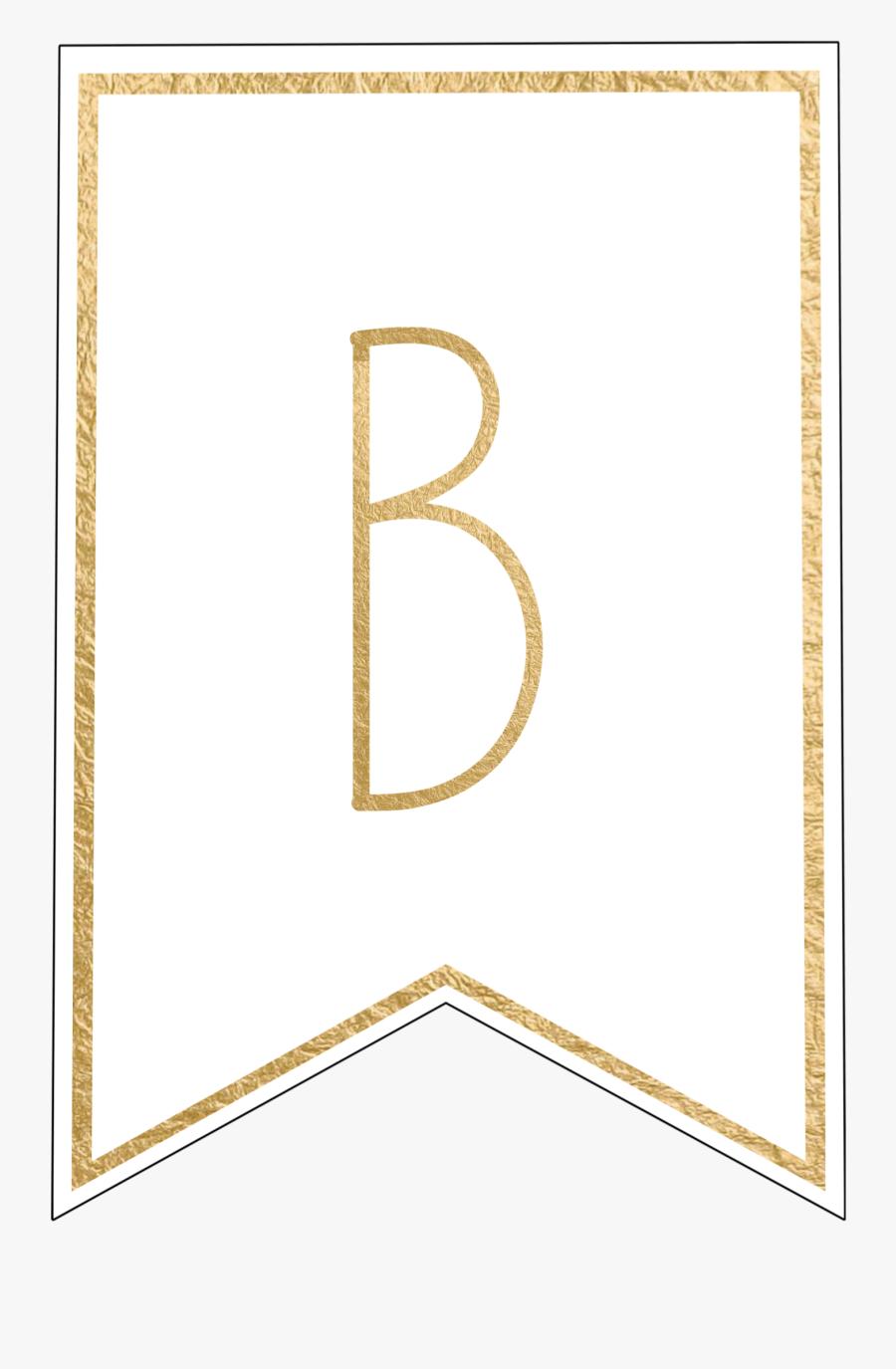 Gold Letter Printable Banner, Transparent Clipart
