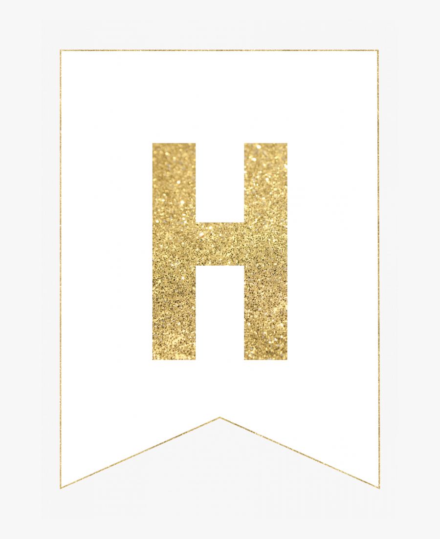 Individual Alphabet Letters To Color Gold Free Printable - B Gold, Transparent Clipart