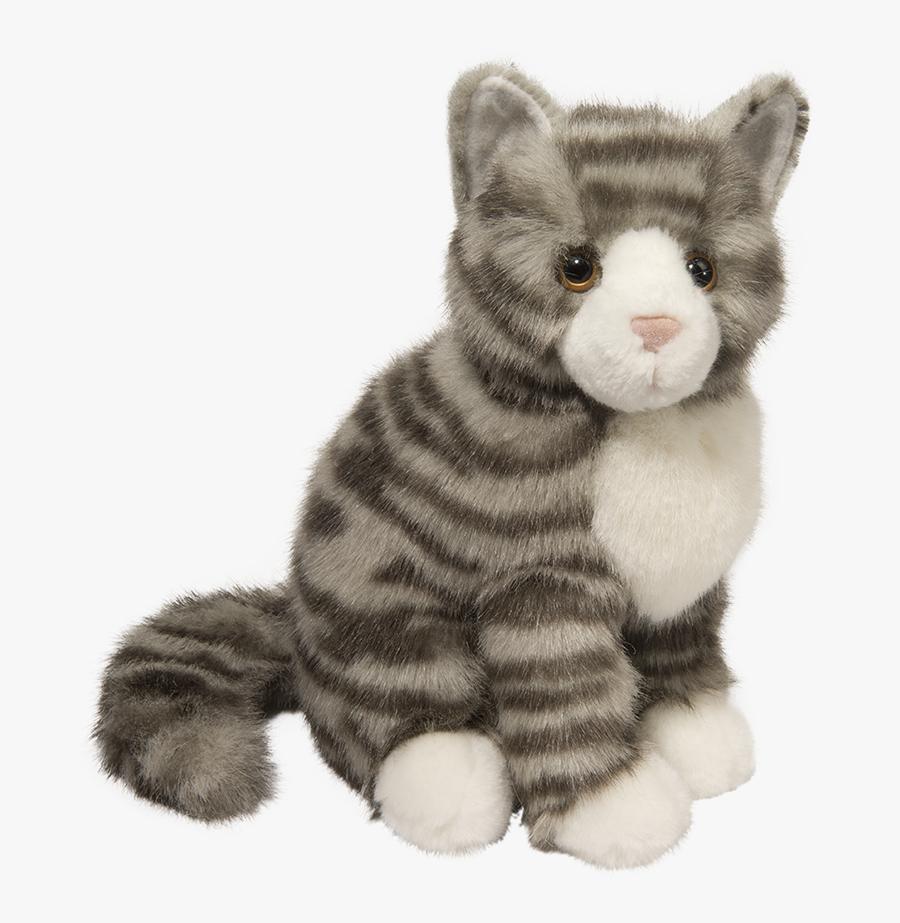 Clip Art Little Grey Cat - Stuffed Animal Cat, Transparent Clipart