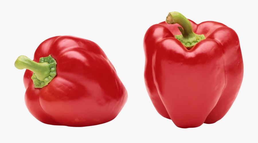 Clipart Vegetables Sweet Pepper - Red Colour Vegetables Name, Transparent Clipart