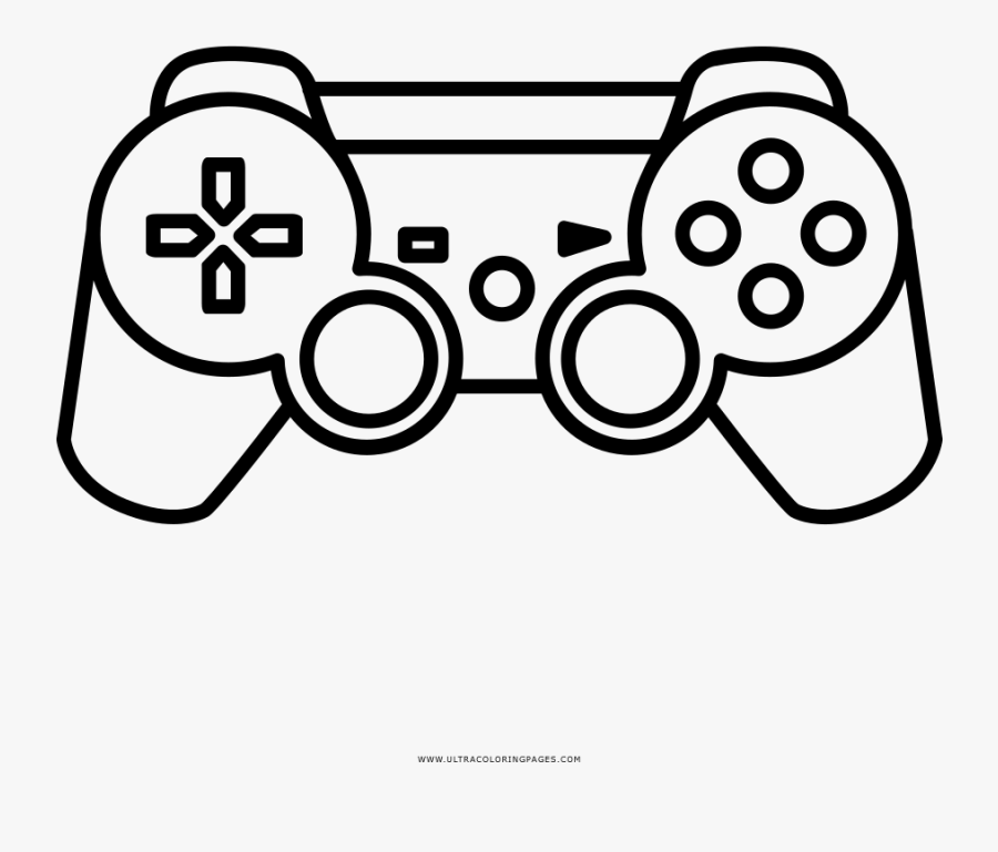 Transparent Videogame Clipart - Video Games Controller Drawing, Transparent Clipart