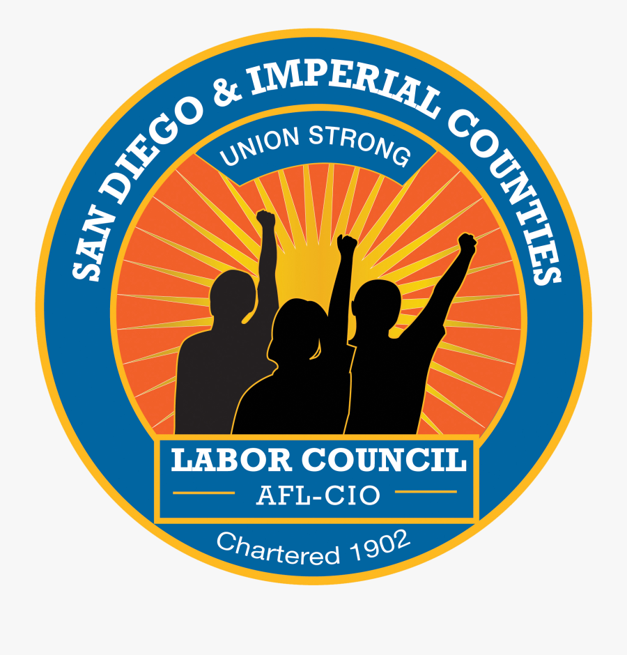 San Diego And Imperial Counties Labor Council - San Diego & Imperial Counties Labor Council Afl, Transparent Clipart