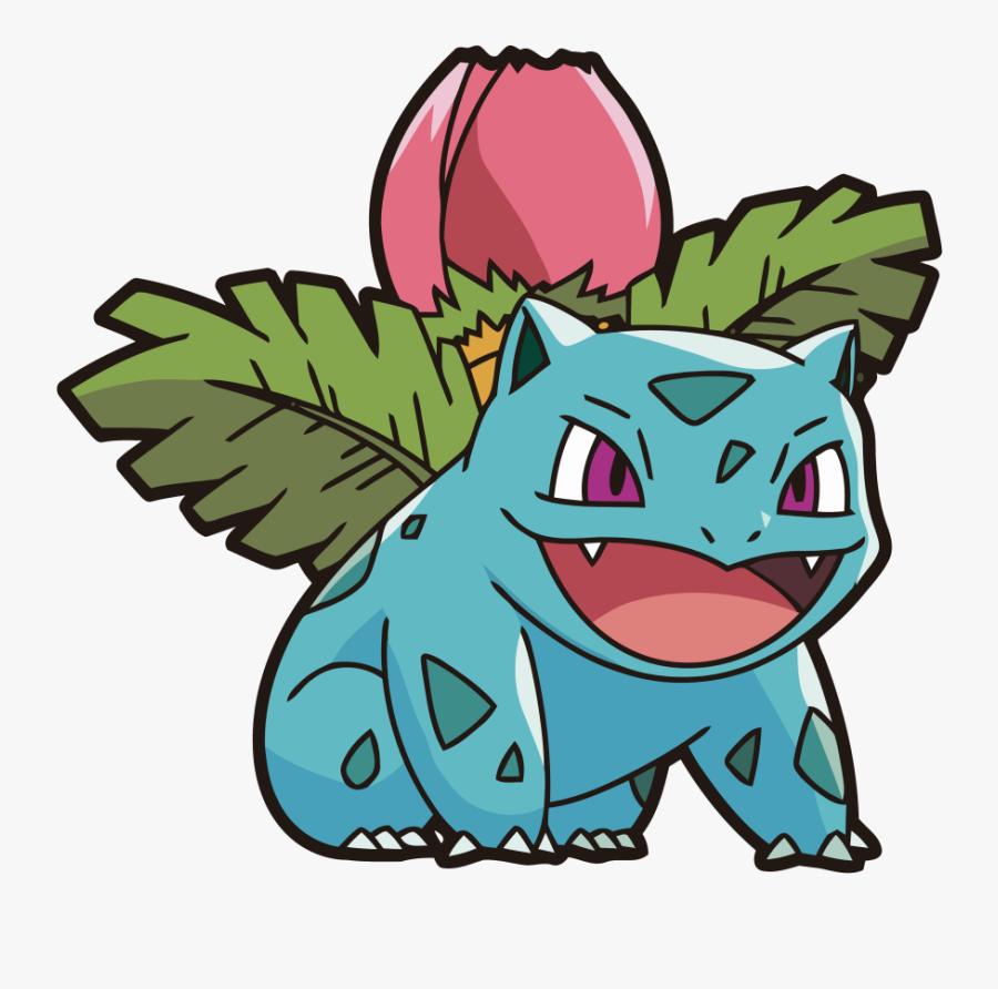 Ivysaur Was A Tough Catch And Escaped Out Of A Lot - Pokemon Ivysaur, Transparent Clipart