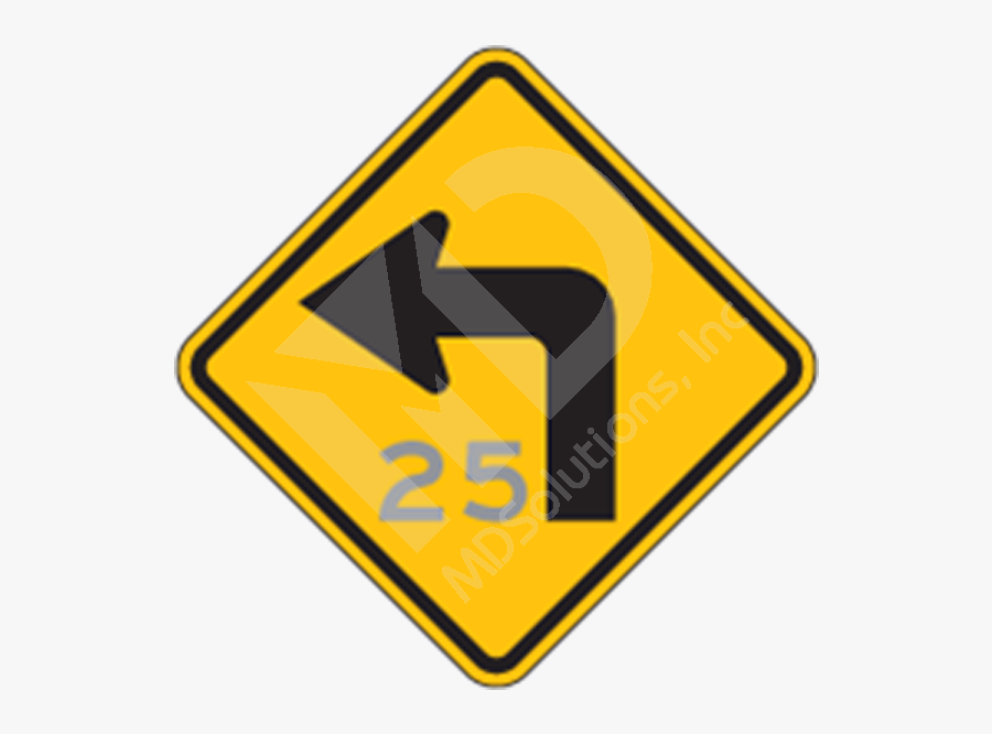 Blank Construction Sign Clip Art - Traffic Signs Left Turn, Transparent Clipart