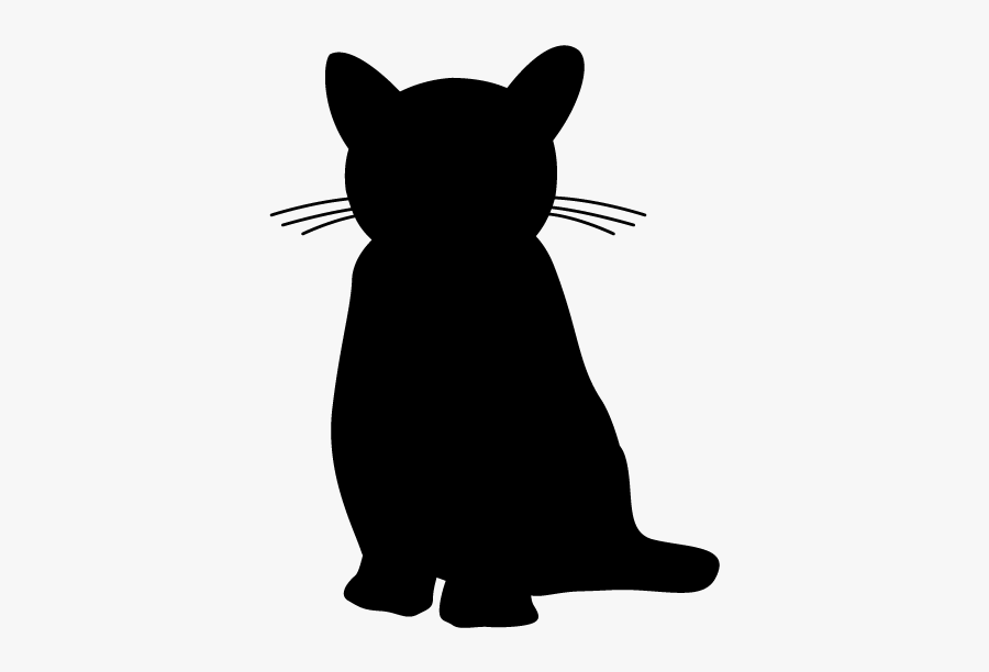 Cat Silhouette Stamp, Transparent Clipart