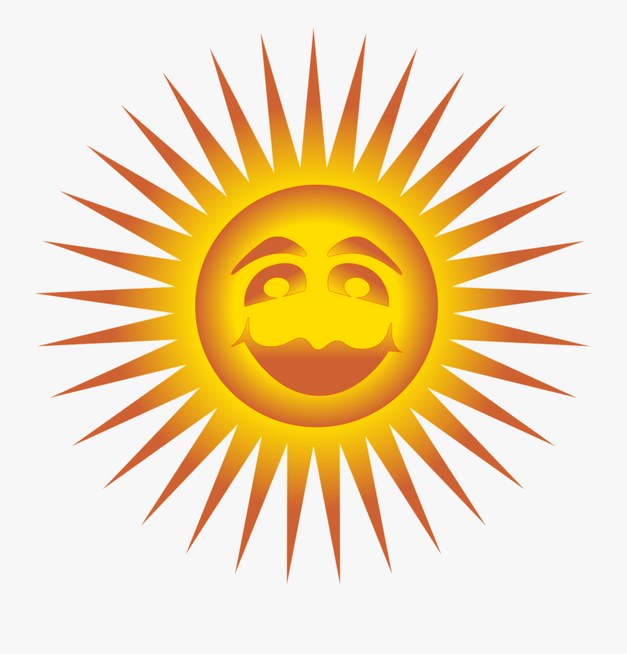 Sun Happy Face Smile Smiley Free Photo - Statue Of Liberty, Transparent Clipart