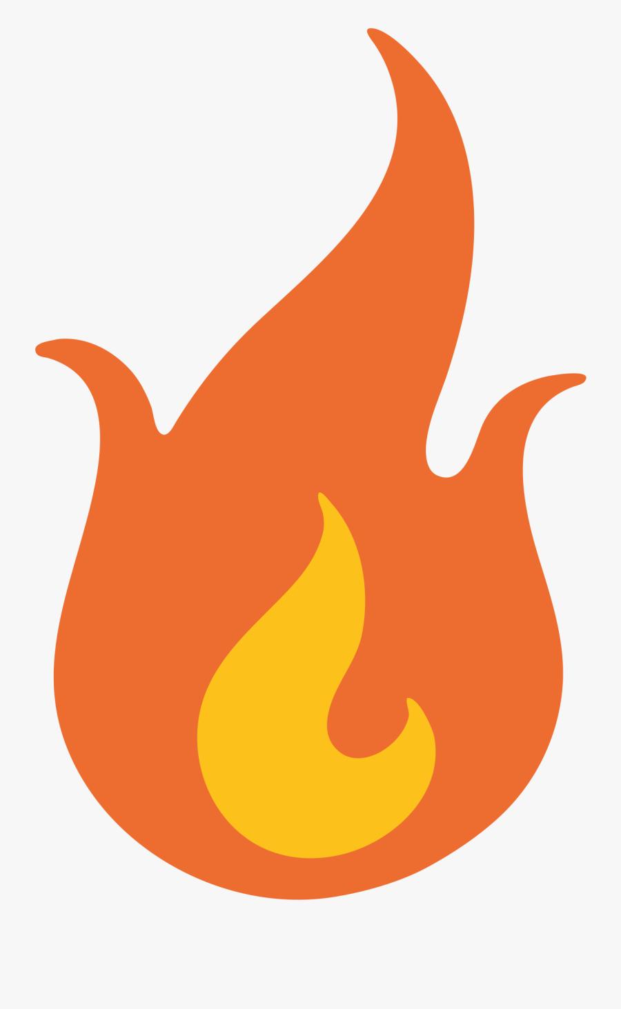 Flame Clipart Emoji - Fire Emoji Transparent, Transparent Clipart