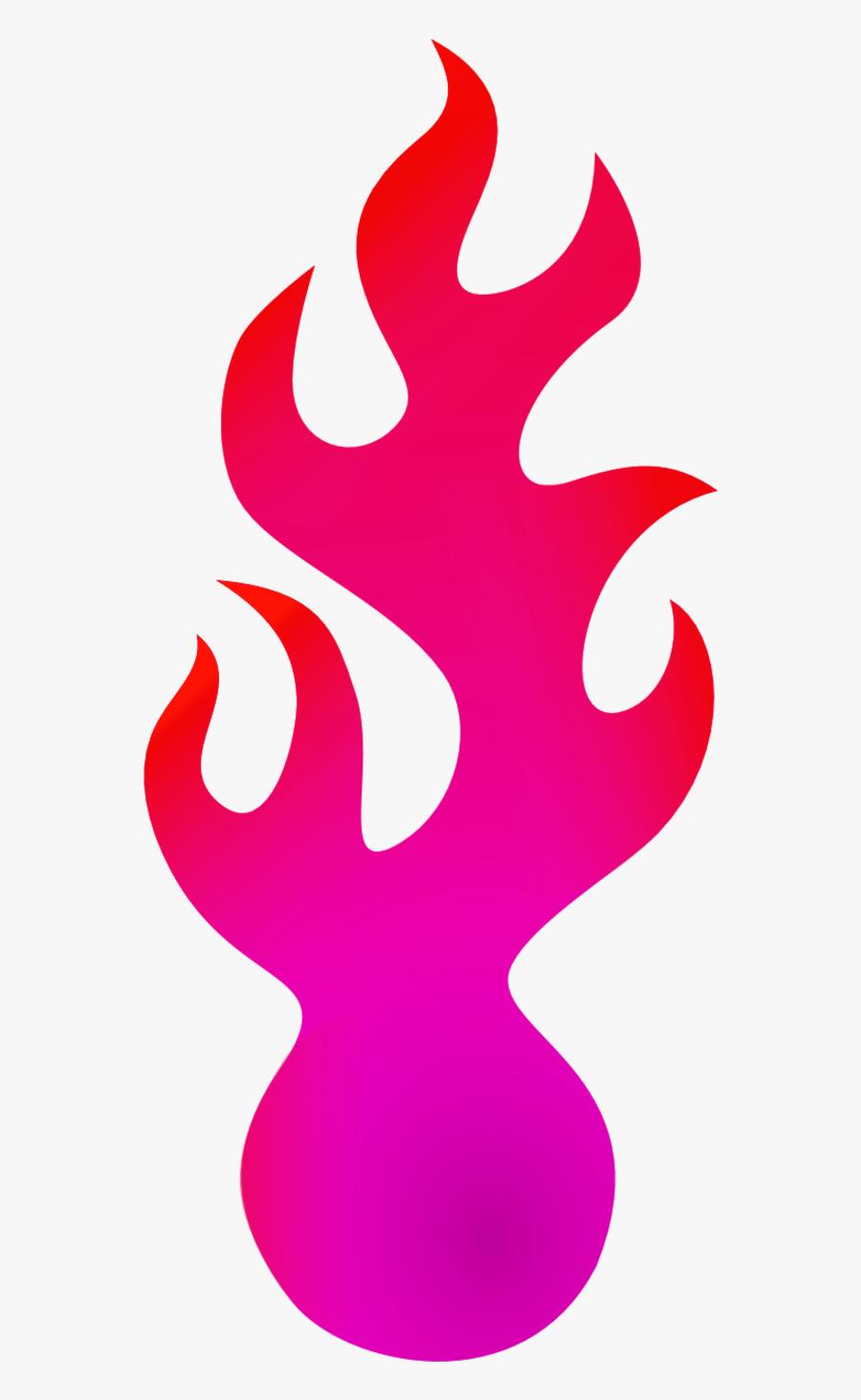 Pink Fire - Blue Fire Cartoon Png, Transparent Clipart