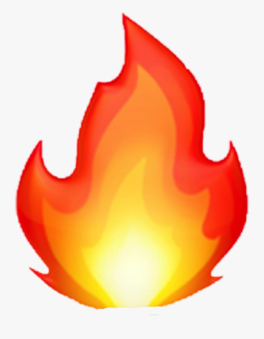 Flame Clipart Emoji - Iphone Fire Emoji Png, Transparent Clipart