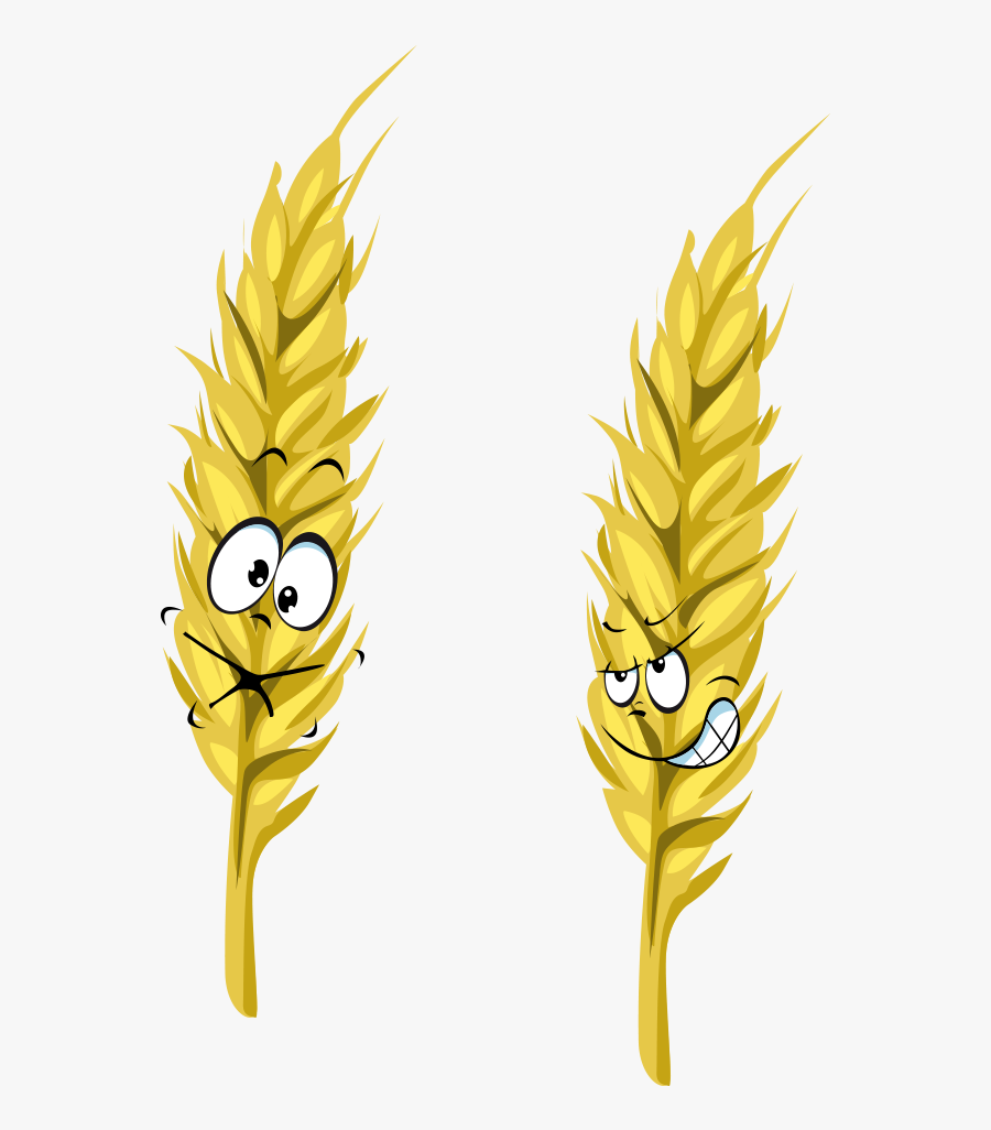 Ear Wheat Cartoon Png Download Free Clipart - Wheat Cartoon, Transparent Clipart