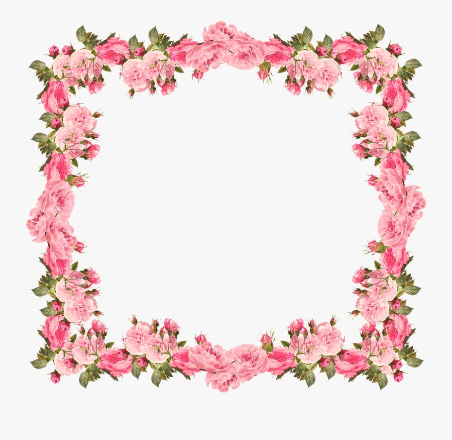 Wedding Invitation Baby Shower Flower Clip Art - Floral Bottom Border Design, Transparent Clipart