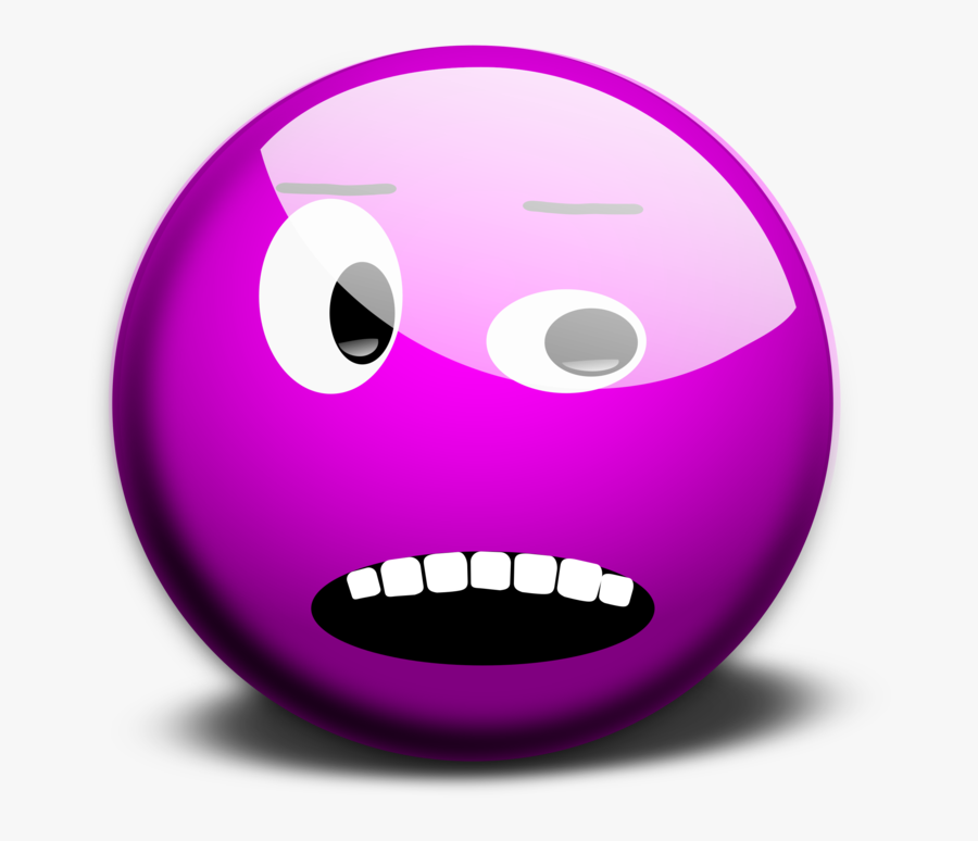Pink,emoticon,smiley - Purple Circle With Face, Transparent Clipart