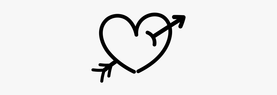 """""""  Class=""""lazyload Lazyload Mirage Cloudzoom Featured - Hand Drawn Heart With Arrow Png, Transparent Clipart"""