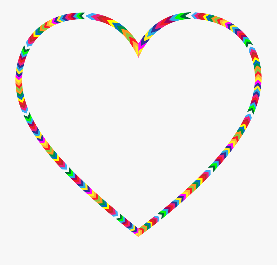 Multicolored Big Image Png - Multi Coloured Heart Png, Transparent Clipart