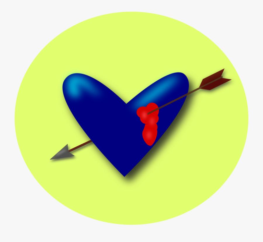 Cupid Heart Arrow Svg Clip Arts - Broken Blood From Heart With Arrow, Transparent Clipart