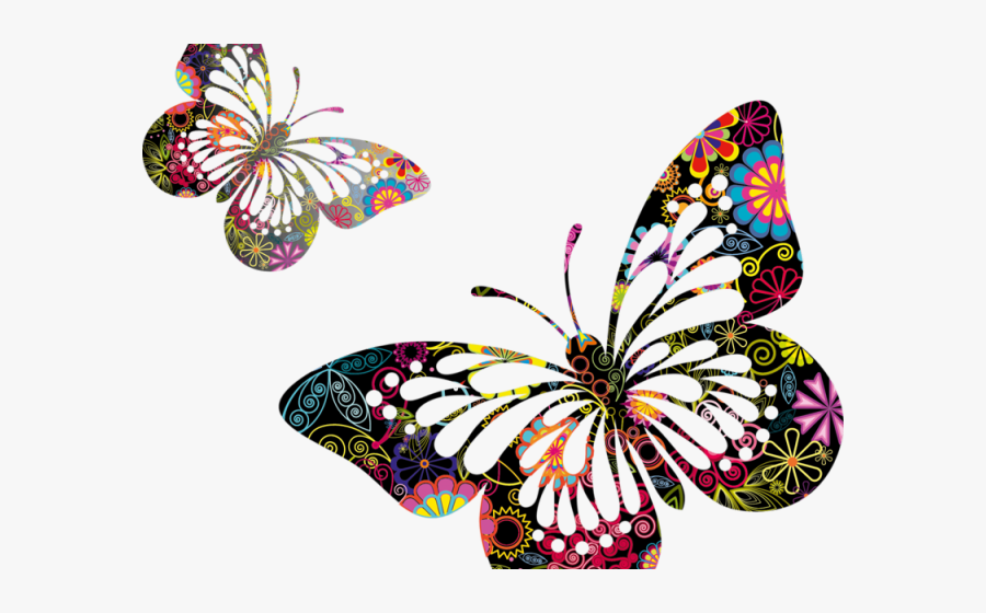 Transparent 17 Clipart - Butterfly Clip Art Border, Transparent Clipart