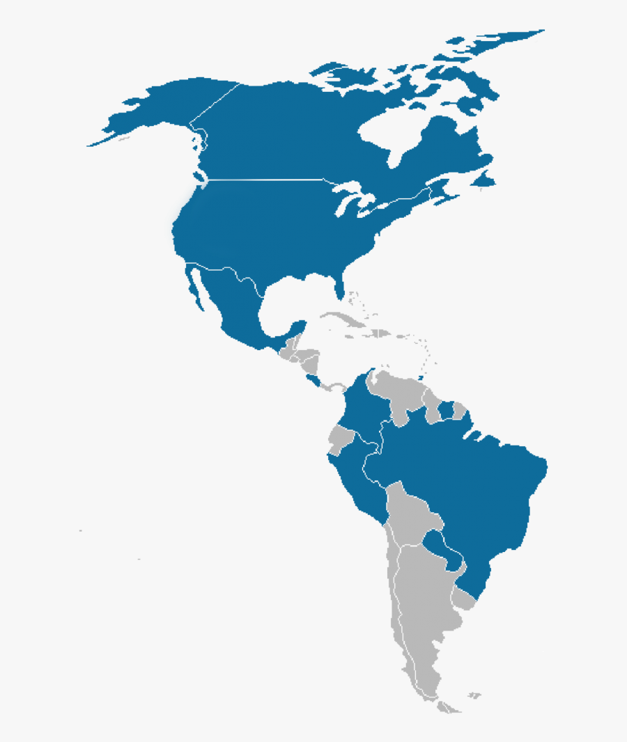 Transparent Mapa Mundi Png - Latin America And Caribbean Map Png, Transparent Clipart