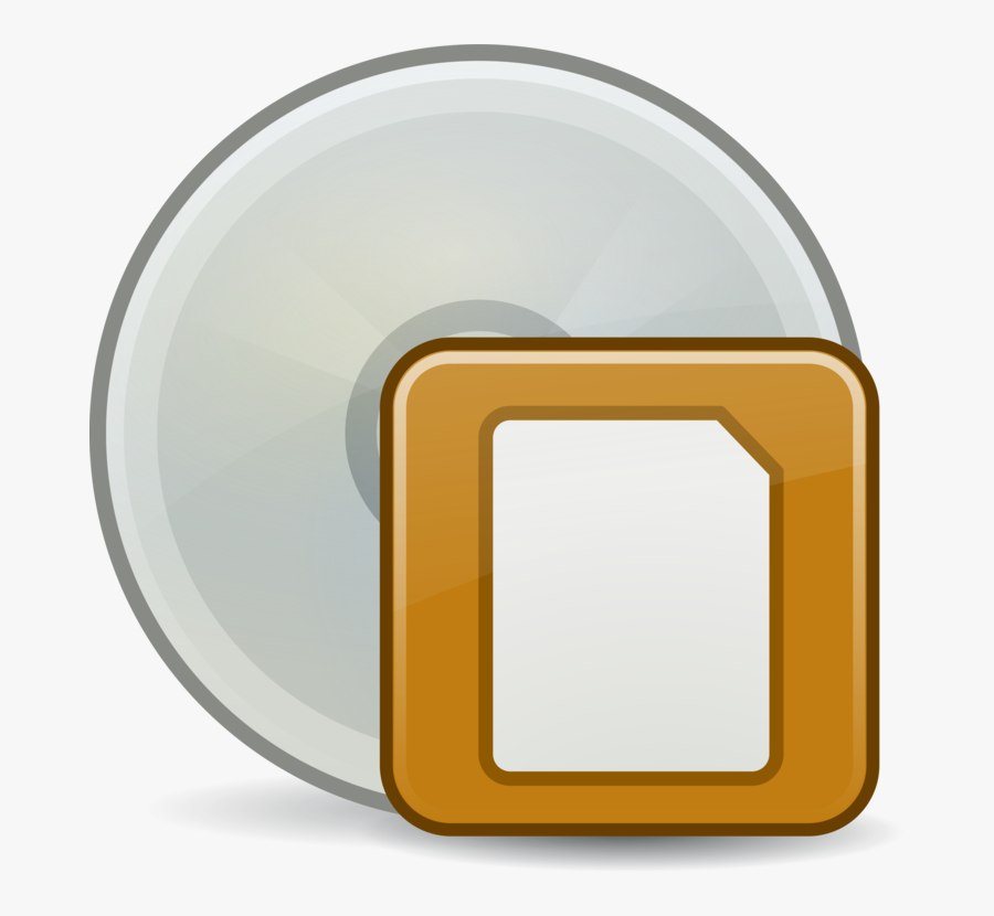 Yellow,disk Image,floppy Disk - Circle, Transparent Clipart