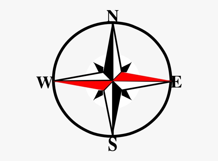 Compass Clipart West Transparent X Free Png - North East South West Symbol, Transparent Clipart