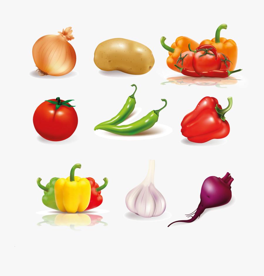 Vegetables Vector, Transparent Clipart