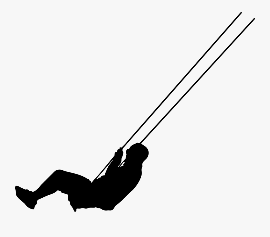 Photography - Human On A Swing Silhouette, Transparent Clipart