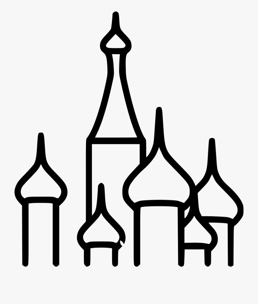 St. Basil's Cathedral, Transparent Clipart