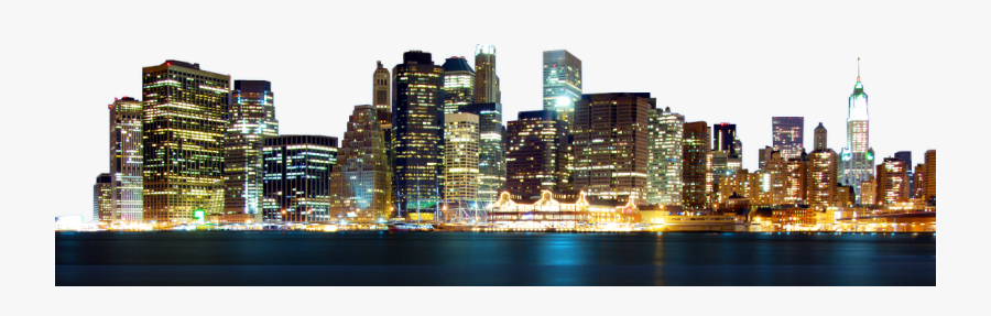 City Freetoedit - City Skyline Night Png, Transparent Clipart