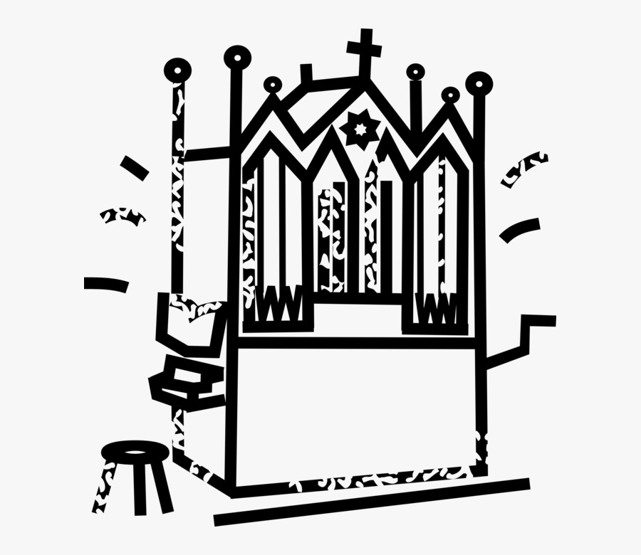 Vector Illustration Of Christian Religion Church Pipe, Transparent Clipart