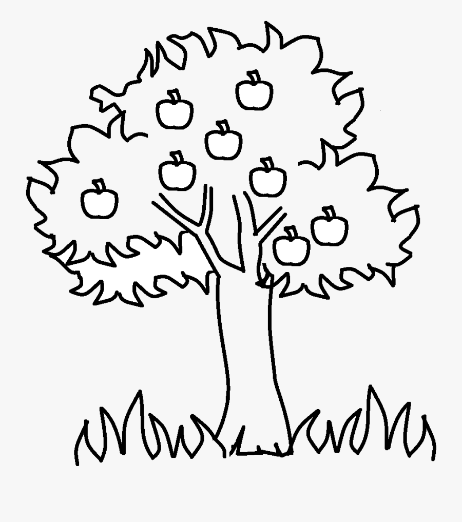 Apple Tree Black And White Family Clip Art Printable - Apple Tree Black And White Clipart, Transparent Clipart