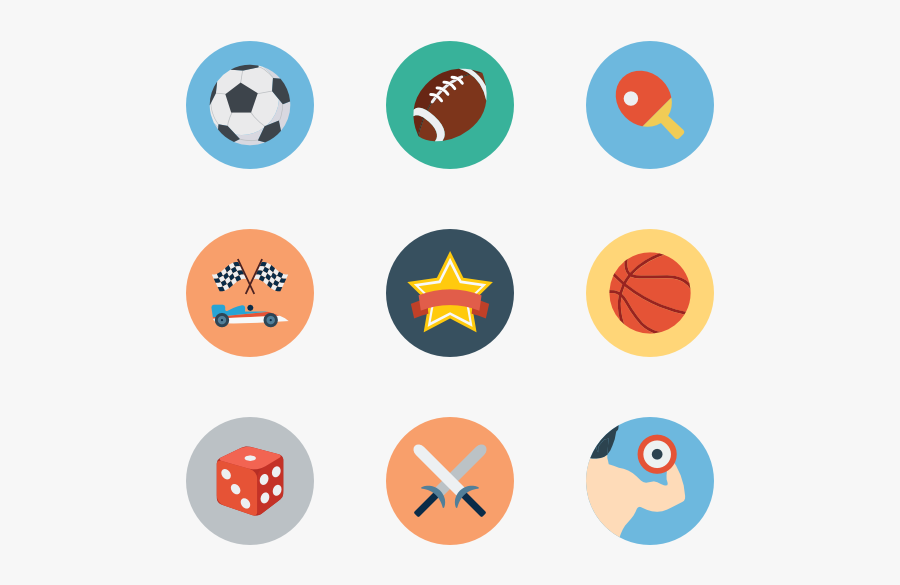 Sports Icons Free - Basketball Badminton Soccer Icon Png, Transparent Clipart