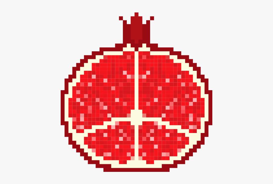 Pixel Art Fruit Pomegranate Free Transparent Clipart Clipartkey