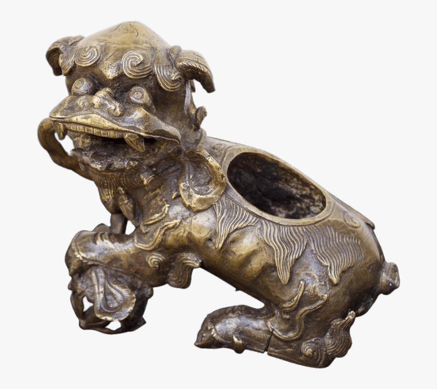 Foo Dog Incense Burner Clip Arts - Bronze Sculpture, Transparent Clipart