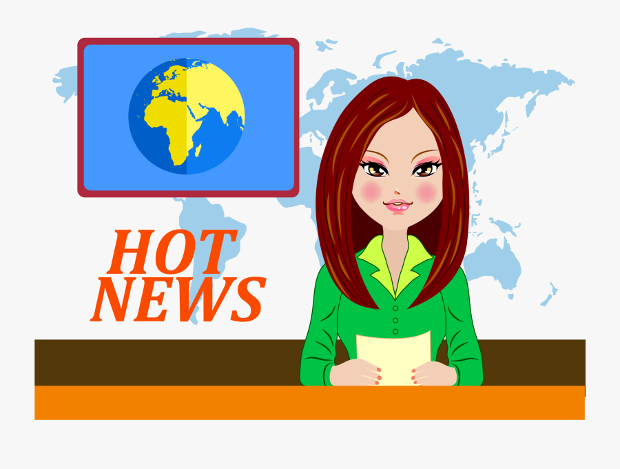 Clipart Tv News Anchor - Cartoon Tv News Png, Transparent Clipart