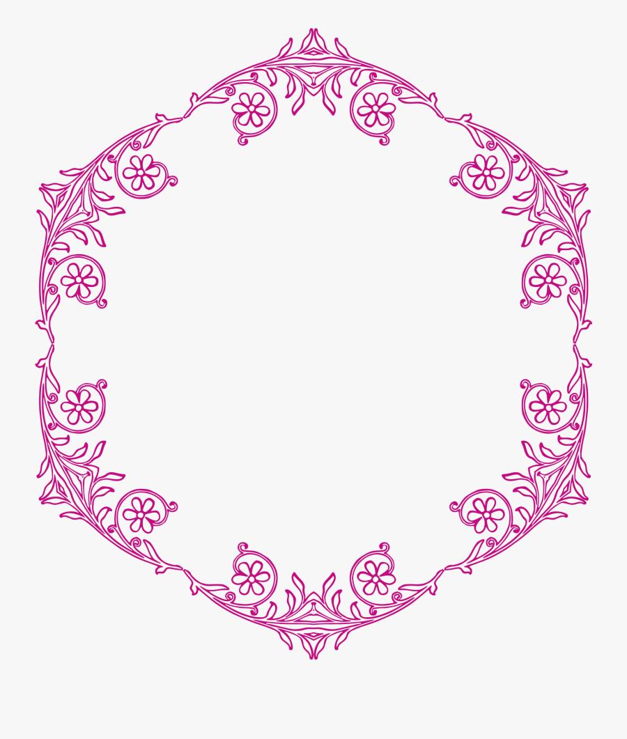 Vines Swirl Png Transparent Image - Floral Frame Borders Vector Black And White, Transparent Clipart