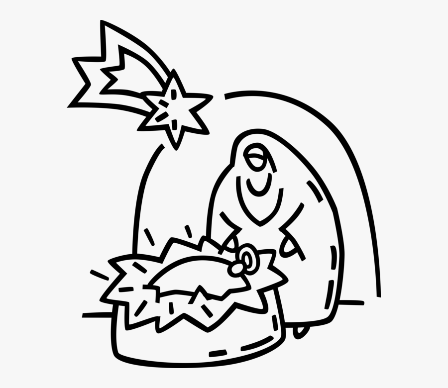 Vector Illustration Of Festive Season Christmas Nativity - Christmas Day, Transparent Clipart