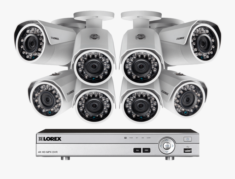 1080p Camera System With 8 Channel Dvr And 8 1080p - Security Camera System, Transparent Clipart