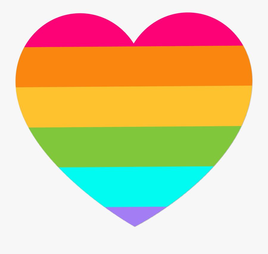Rainbow Euclidean Vector Clip Art - Rainbow Heart Transparent Background, Transparent Clipart