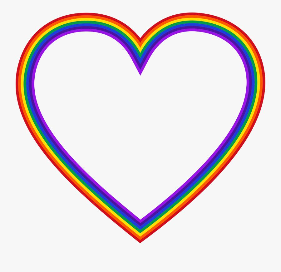 Transparent Sun Rainbow Clipart - Rainbow Heart Transparent Background, Transparent Clipart