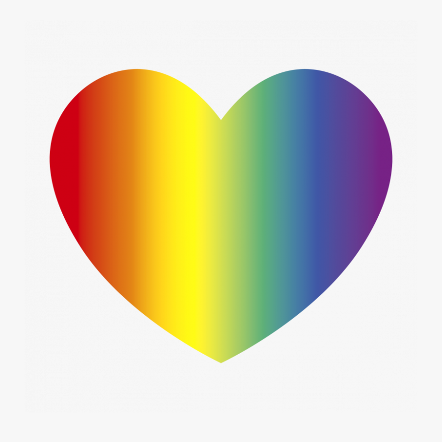 Rainbow Transparent Love Hearts, Transparent Clipart