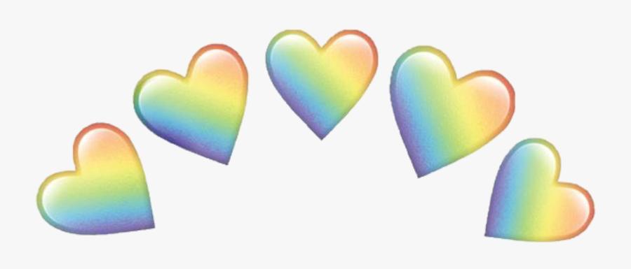 Crown Emoji Png -heart Rainbow Emojis Crown Emoji Hearts - Rainbow Heart Emoji Transparent, Transparent Clipart