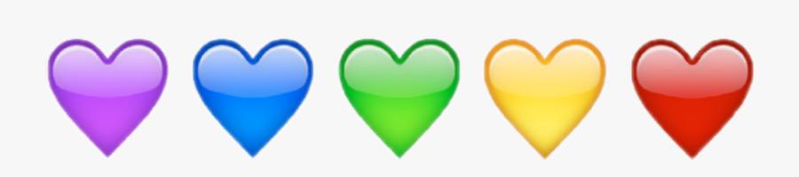 #rainbow #heart #love #emot #kawaii #cute #shine #aesthetic - Transparent Aesthetic Sticker Rainbow Heart, Transparent Clipart