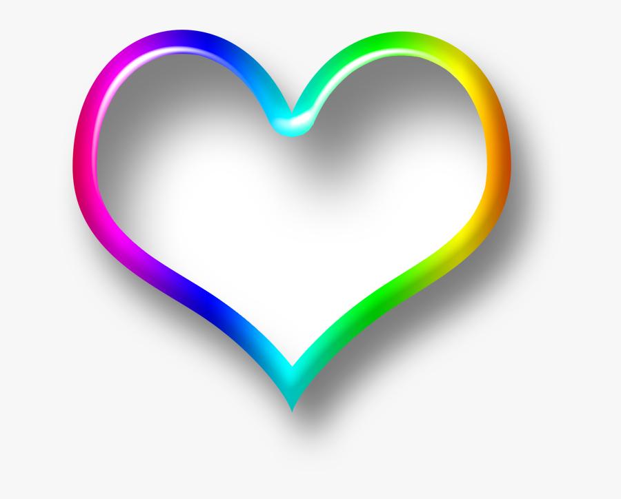 3d Heart Png Colorful Transparent - Heart, Transparent Clipart