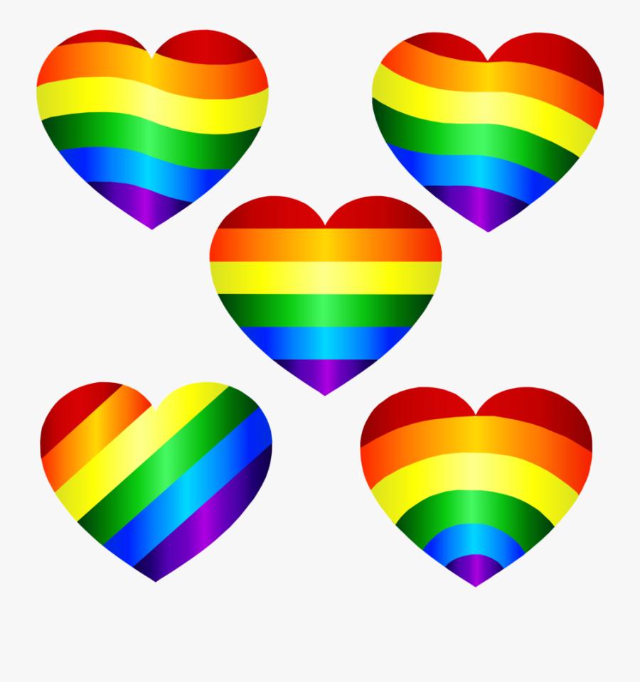 Transparent Background Rainbow Heart Png, Transparent Clipart