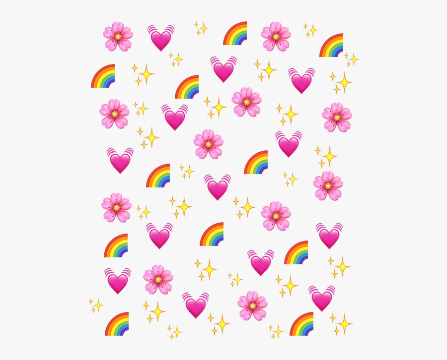 #rainbow #heart #emoji #background #freetoedit - Heart Emoji Background Png, Transparent Clipart