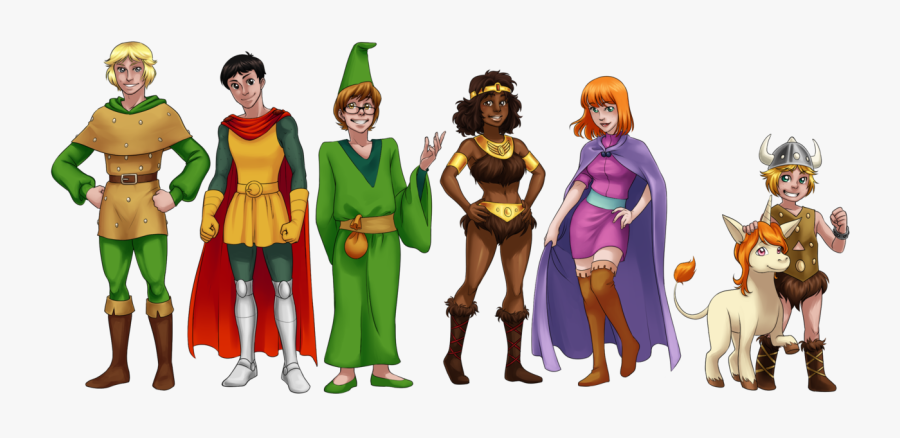 593kib, 1280x569, Fanart Dungeons And Dragons By Zulenha-d4izhy6 - Dungeons And Dragons Tv Series Characters, Transparent Clipart
