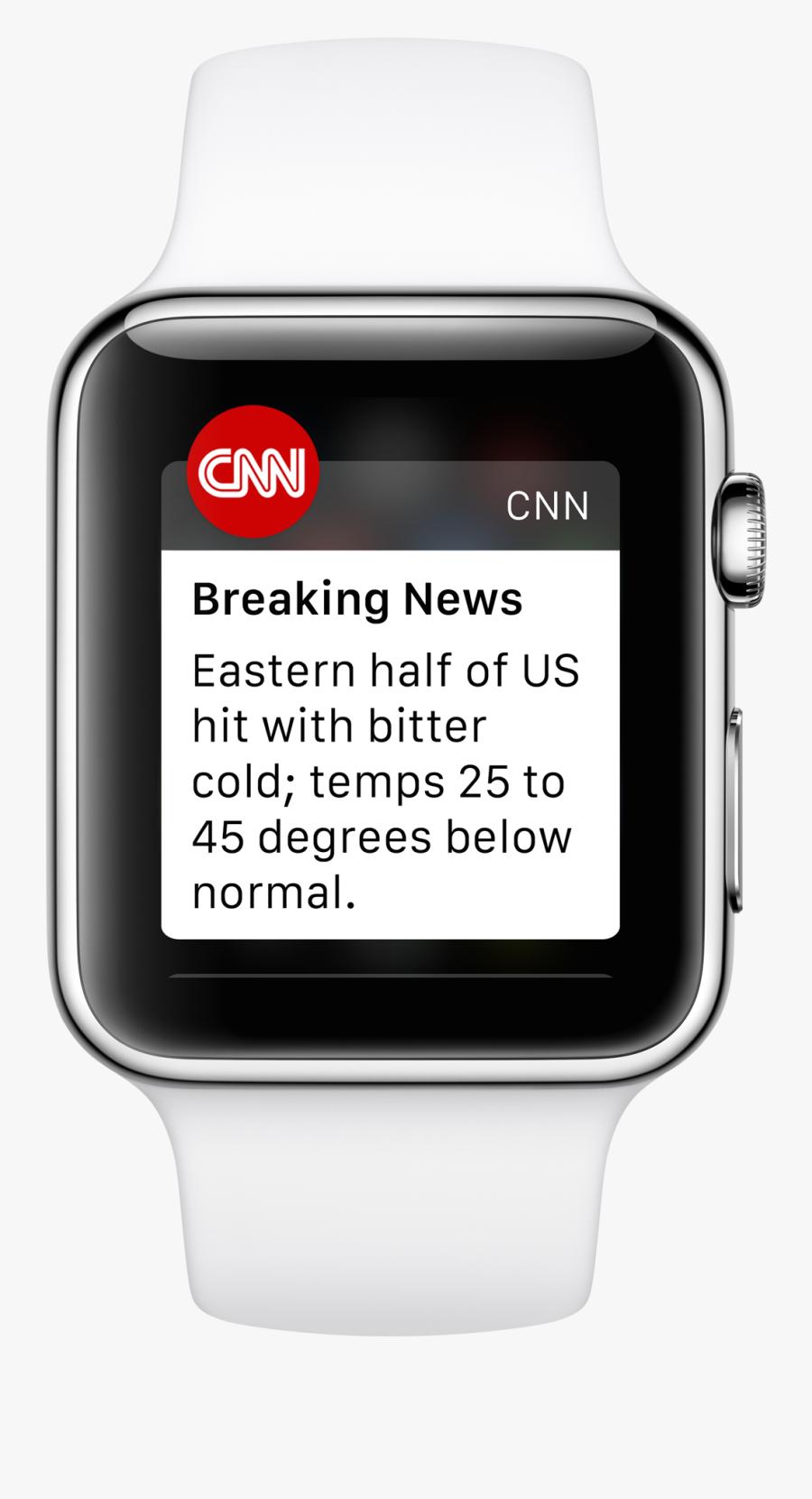 Transparent Breaking News Clipart - Zello Apple Watch, Transparent Clipart